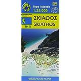 Skiathos 1 : 25 000: Topografische Wanderkarte 10.11. Griechische Inseln - Ägäis - Sporaden - Aegean Sporades (Topo Iles)