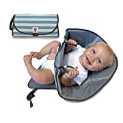 f1c8930421fc SnoofyBee Portable Clean Hands Changing Pad. 3-in-1 Diaper Clutch, Changing  Station, and Diaper-Time Playmat with Redirection Barrier for use with  Infants, ...