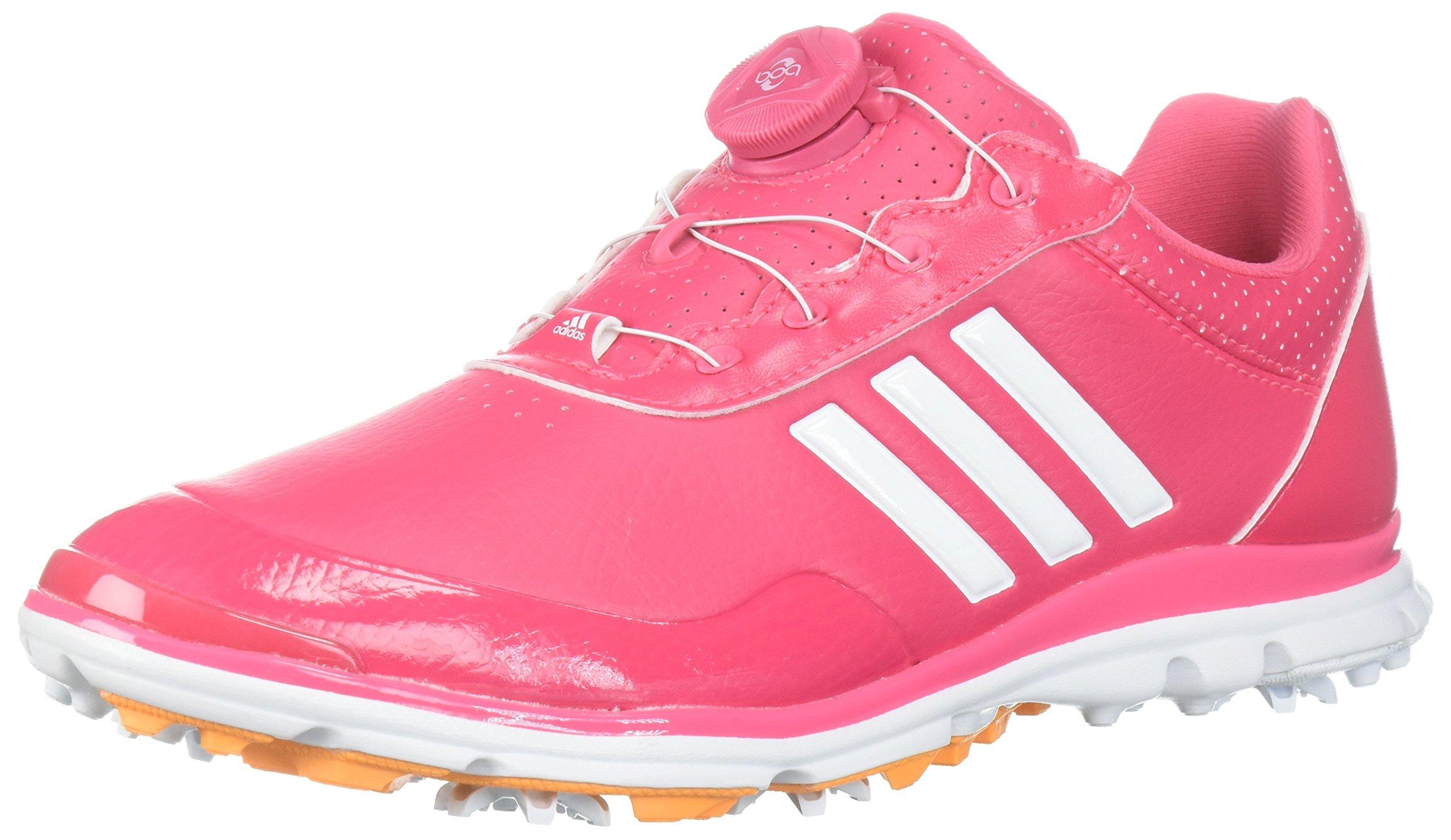 adidas Women's Adistar Lite BOA Golf Shoe, Real Pink/White/Real Gold, 9.5 M US