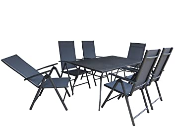 Jakarta 6 7 piece luxury aluminium textilene garden furniture jakarta 6 7 piece luxury aluminium textilene garden furniture folding chair workwithnaturefo
