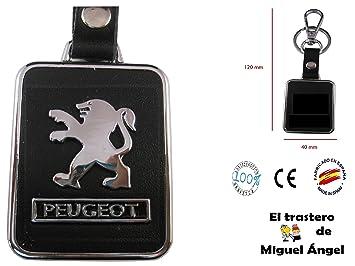 Llavero cuero y metal Peugeot: Amazon.es: Coche y moto
