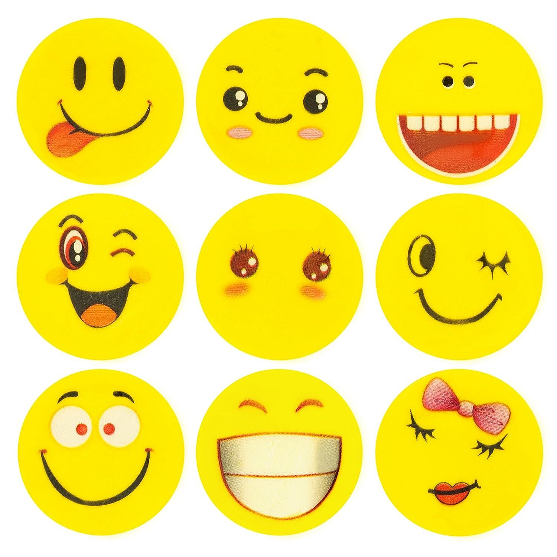 ECENCE 24x Gomme à Effacer avec émoticône Gomme Smiley Smile Enfants Cadeau d?Anniversaire Enfant 13020206 4260545432025