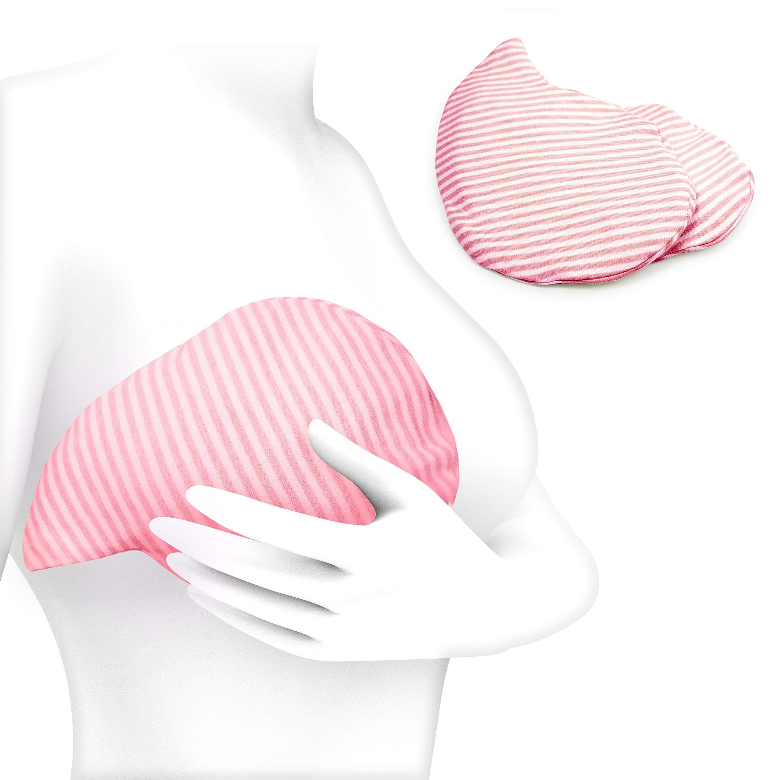 Luxury Breast Gel Packs by Magic Gel - Use as a Breast Ice Pack or a Breastfeeding Heating pad.