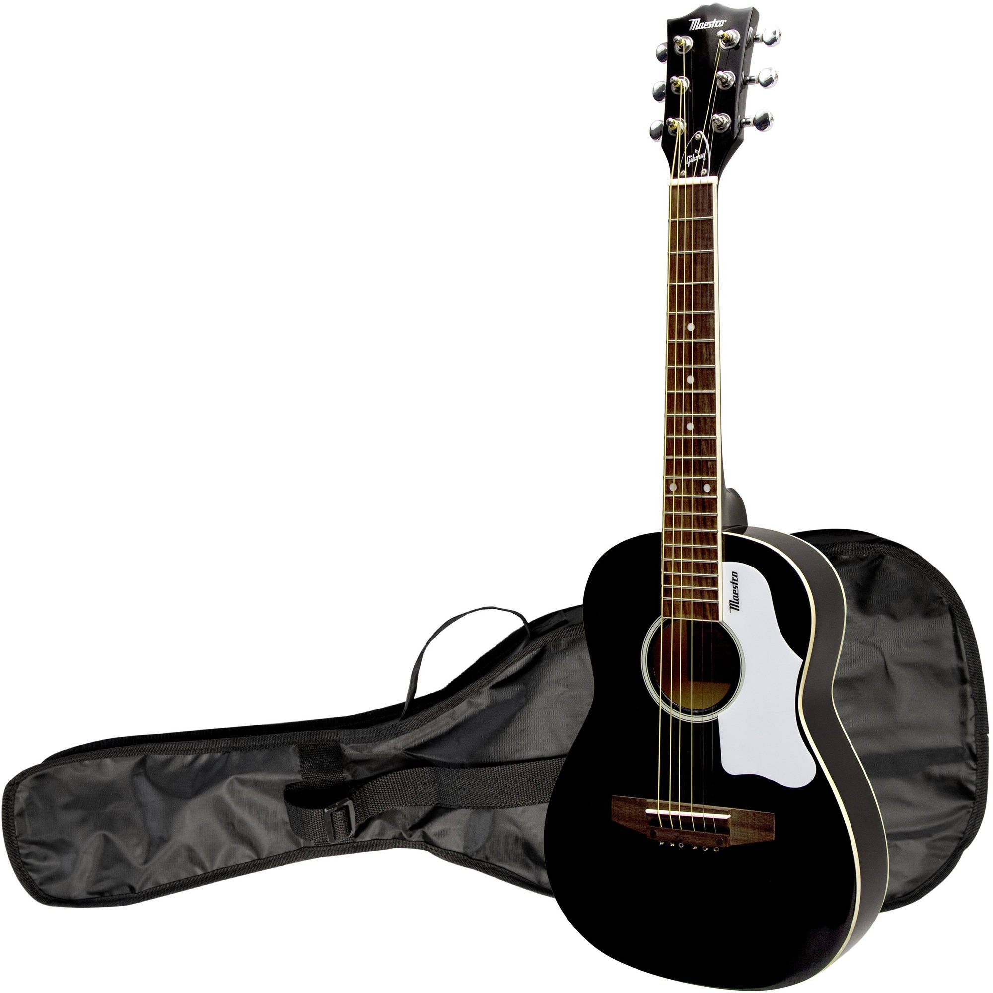 Gibson Maestro 30'' Mini Acoustic Guitar, Black, with Gig Bag