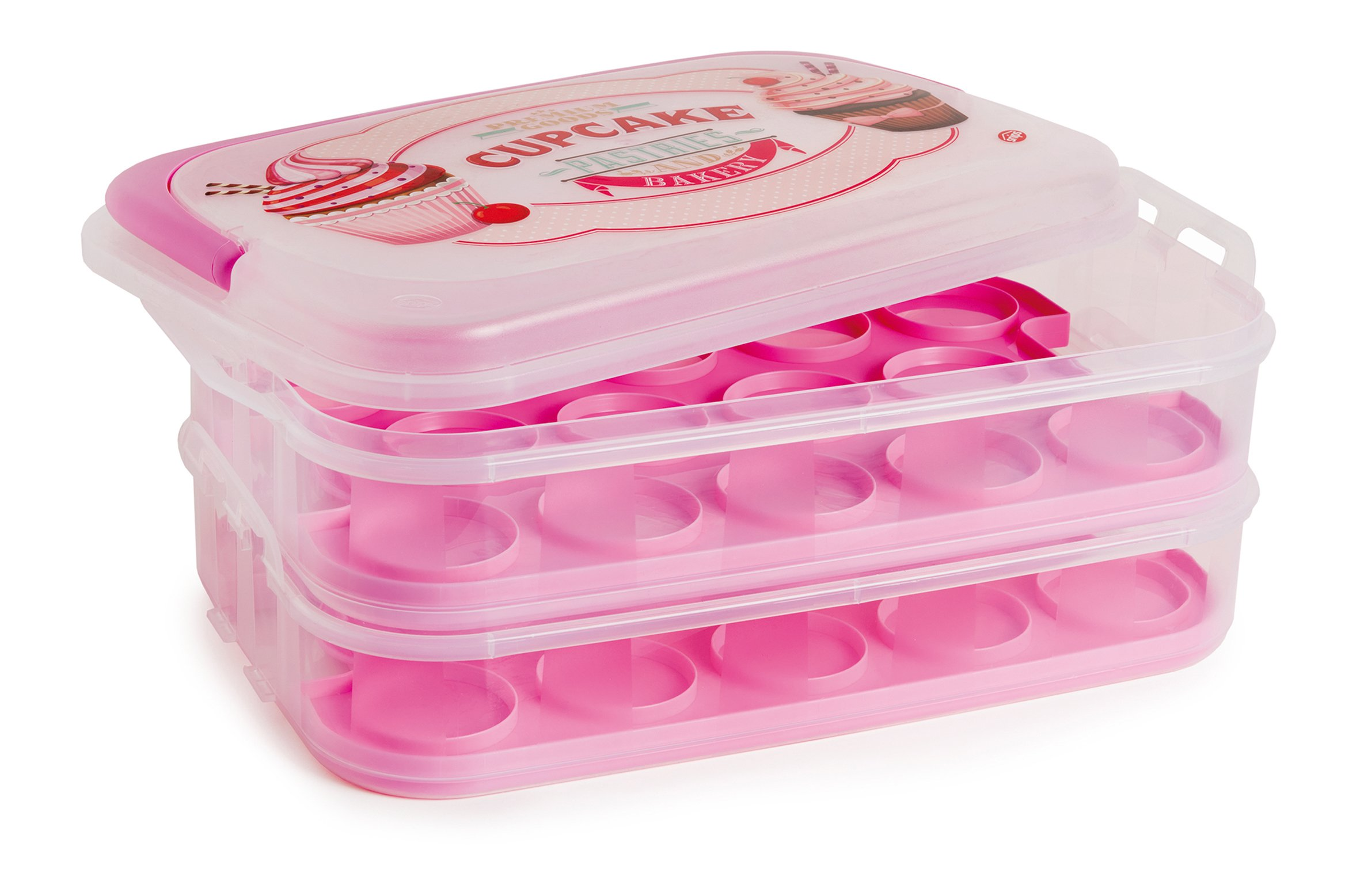 Snips 2 Tier Cupcake Holder (Holds 28 cupcakes), Pink
