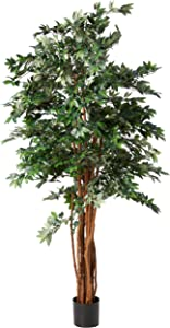 Nearly Natural Lychee Silk Tree, 7.5'