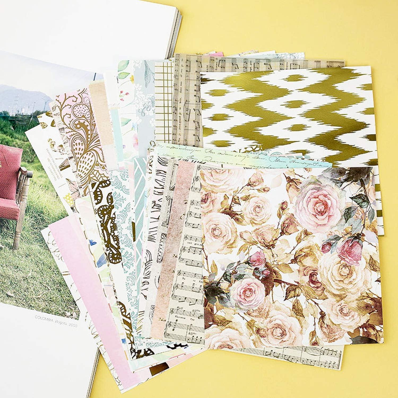 GloryMM Wooden Vintage Sweet Flower Rubber Stamp Square Scrapbook Paper Craft Photo Album Decoration