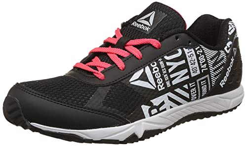 Image Unavailable. Image not available for. Colour  Reebok Boys Run Voyager  Lp Black Glow Red Met Silver Sports Shoes ... f6093df53