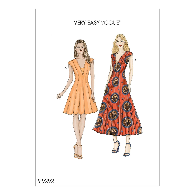 Multicolore 22 15/x 0.5/x 22/cm Tailles 6 Vogue Patterns 9292/OS Soie Patrons de Veste et Dickie