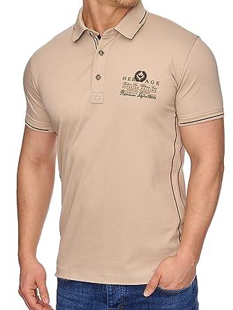 Kleidung & Accessoires Herrenmode Tazzio Fashion Herren Poloshirts Navyblau