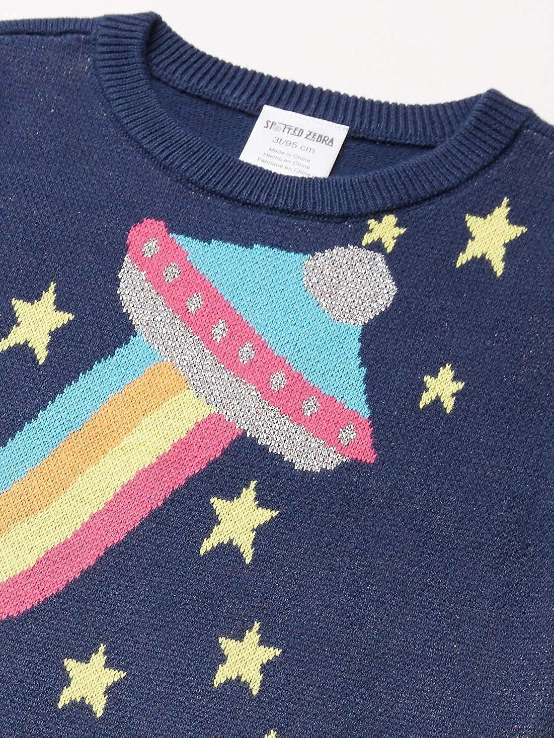Spotted Zebra Pullover Crew Sweaters Bambina Marchio