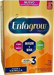Enfagrow Premium 3 - Leche de Crecimiento para Niños mayores de 12 Meses  En Polvo Sabor Vainilla Caja de 1,100 gramos