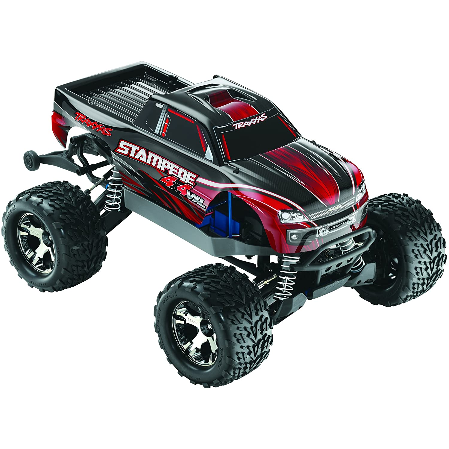 Amazon Traxxas Stampede 4X4 VXL Monster Truck Ready To Race Trucks 1 10 Scale Colors May Vary Toys & Games
