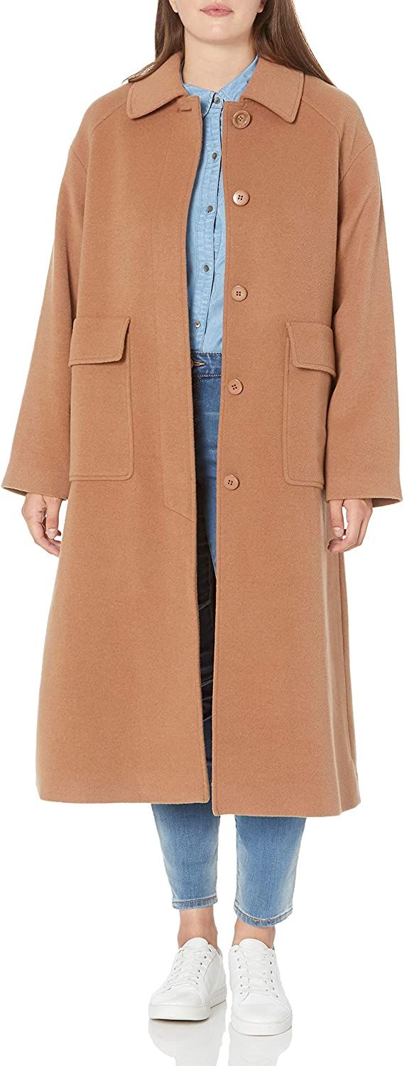 1930s Style Coats, Jackets | Art Deco Outerwear Pendleton Womens Long Wool Coat $220.02 AT vintagedancer.com