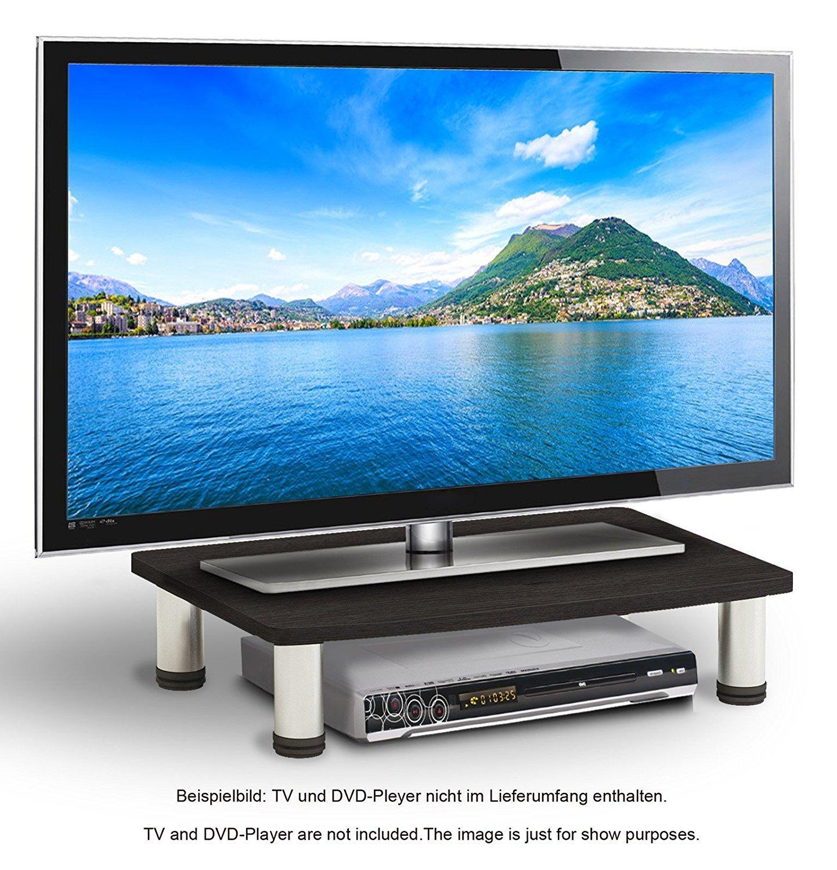 RICOO Tavolo TV LCD televisore supporto TV FS051W LED TV piedistallo supporto tavolo rialzo schermo piatto televisione installare TV rilievo PC monitor adattare a scaffale universal, colore:Bianco