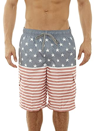 396686e211 Beverly Hills Polo Club Men\'s Bathing Suit Swim Trunk, Light Denim/