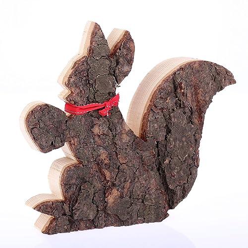 Weihnachtsdeko Rinde.Holzdeko Eichhörnchen Ausführung Rinde Weihnachtsdeko