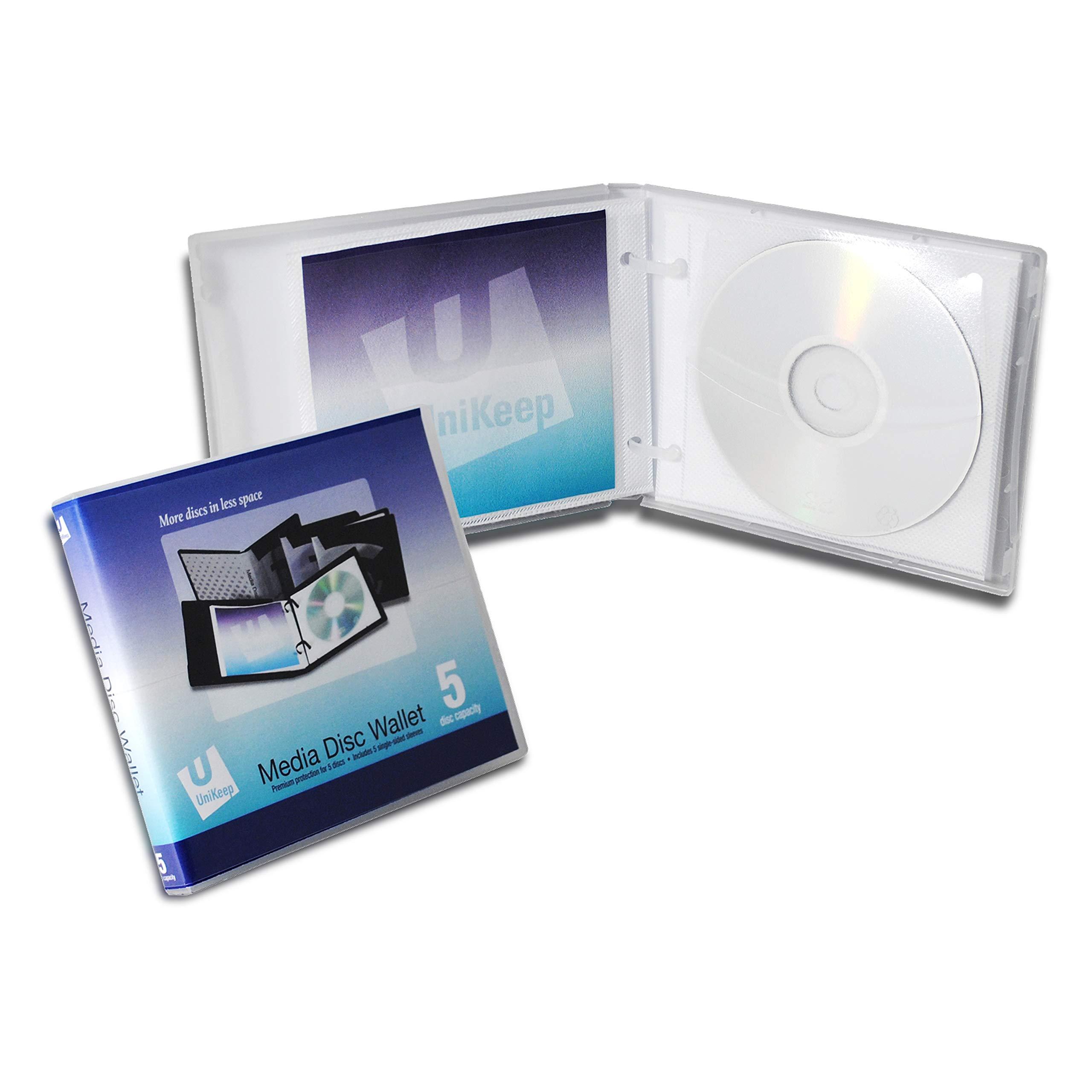 Empty UniKeep 5 CD | DVD Wallet - Case of 30 - Clear