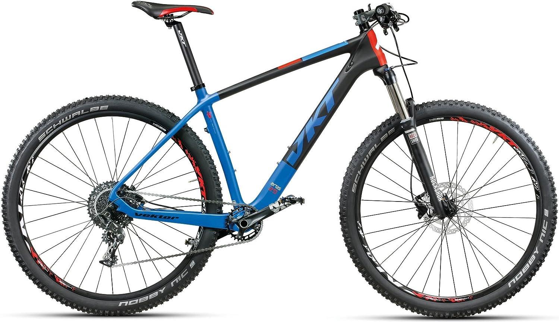 29 pulgadas MONTANA Vektor Ares Mountain Bike Carbon 20 velocidades, negro / azul: Amazon.es: Deportes y aire libre