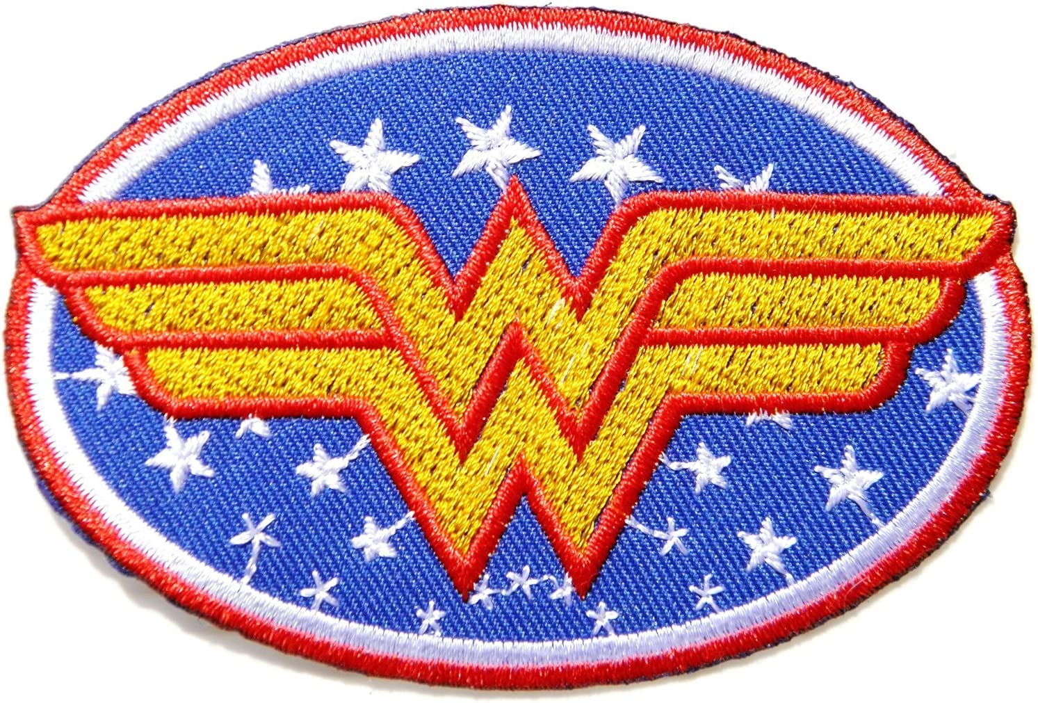 Wonder Woman Embroidered Iron On Sew on Patch Super hero embroidery badge