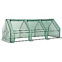 Homcom Invernadero Pequeño con Ventanas - Color Verde