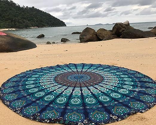 raajsee Tela Redonda de Mandala, Estilo Hippie, Indio Bohemio de ...