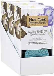New York Botanical Garden by Chesapeake Bay Candle 6-Piece Wax Melt, Water Blossom