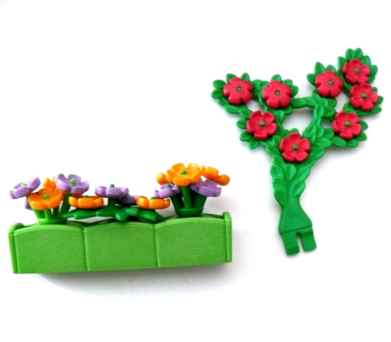 PLAYMOBIL - Jardinera - para ventana Banco balcón - Flores ...