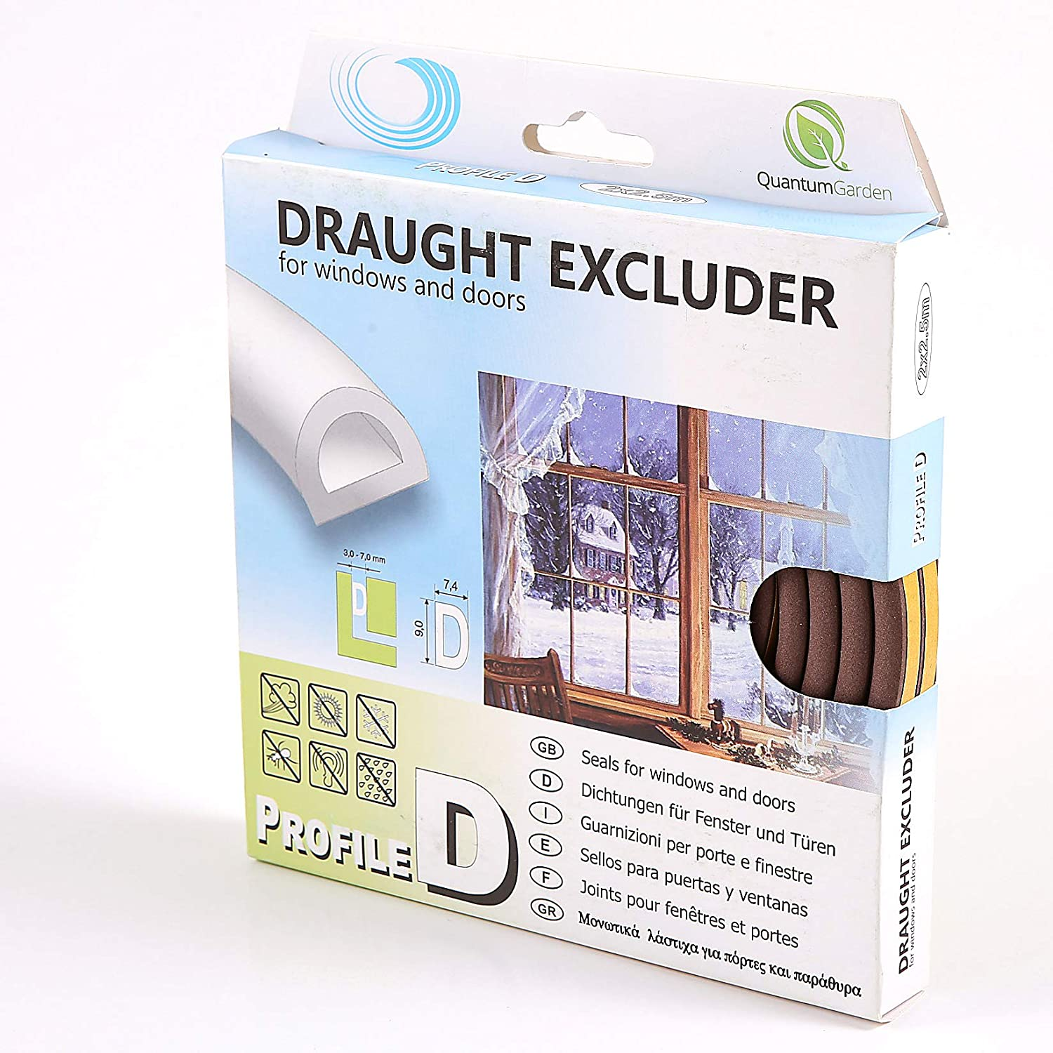 Amazon.com: 10m Assorted Profile Draught Excluder - EPDM Rubber Draught Seal and Foam for Window or Door (Profile D, Brown) by Quantum Garden: Appliances