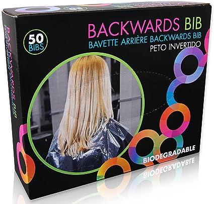 Framar - Babero (50 baberos) - Protege la silla de salón y la capa de peluquería de tinte de pelo - Capa de corte de pelo y barbero.