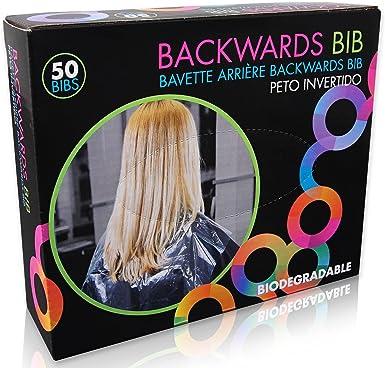 Framar Babero desechable Capes Salon, protege a los clientes, silla de salón y capa de salón de tinte para el cabello, capas de salón desechables para ...