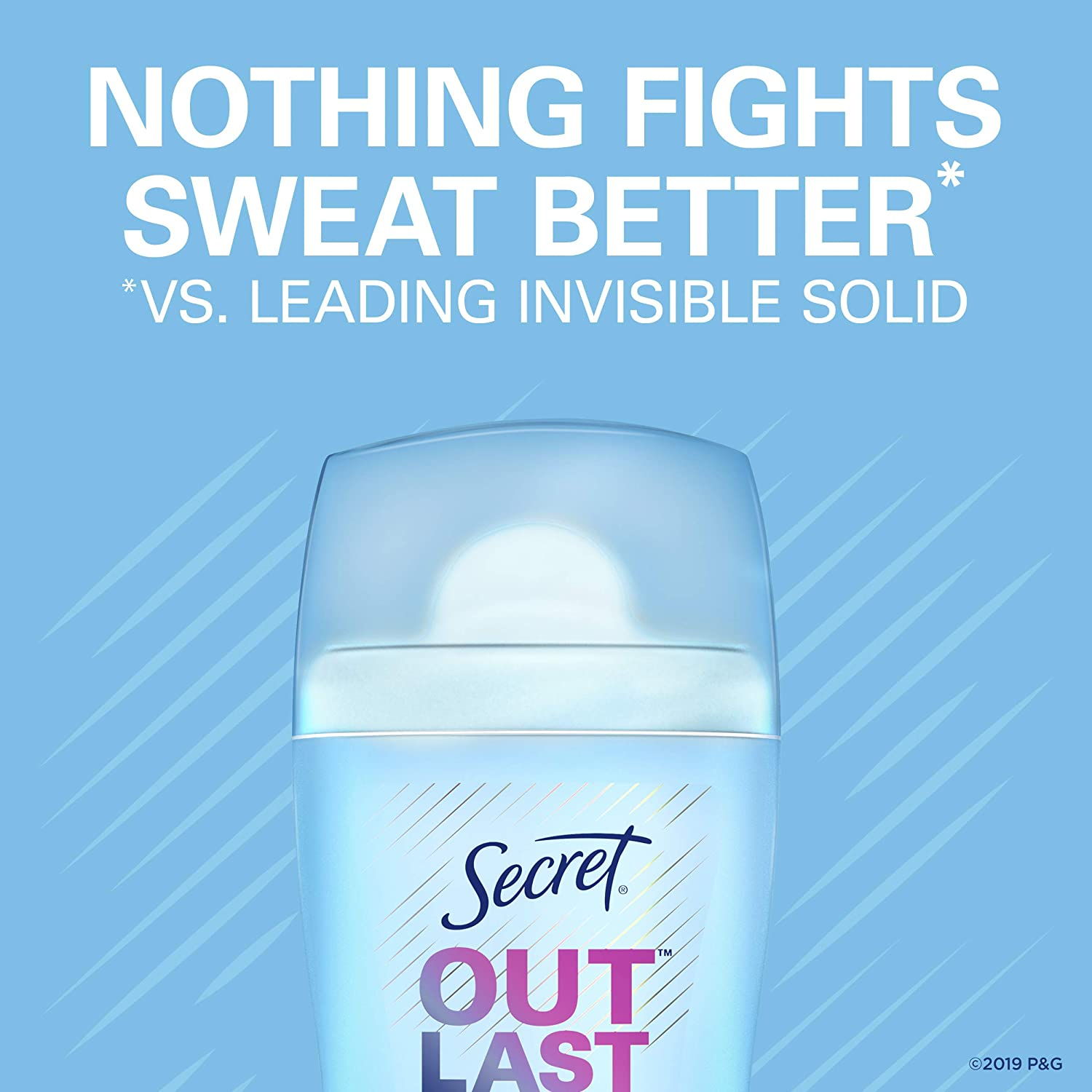 Secret Outlast Invisible Solid Antiperspirant Deodorant for Women, Completely Clean, 2.6 oz, pack of 3 : Beauty