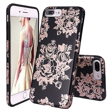 DOUJIAZ iphone8 Plus móvil, iPhone 7 Plus móvil, mármol Serie Flexible TPU Silicona Funda Carcasa Funda Carcasa Case Cover Funda Carcasa para Apple ...