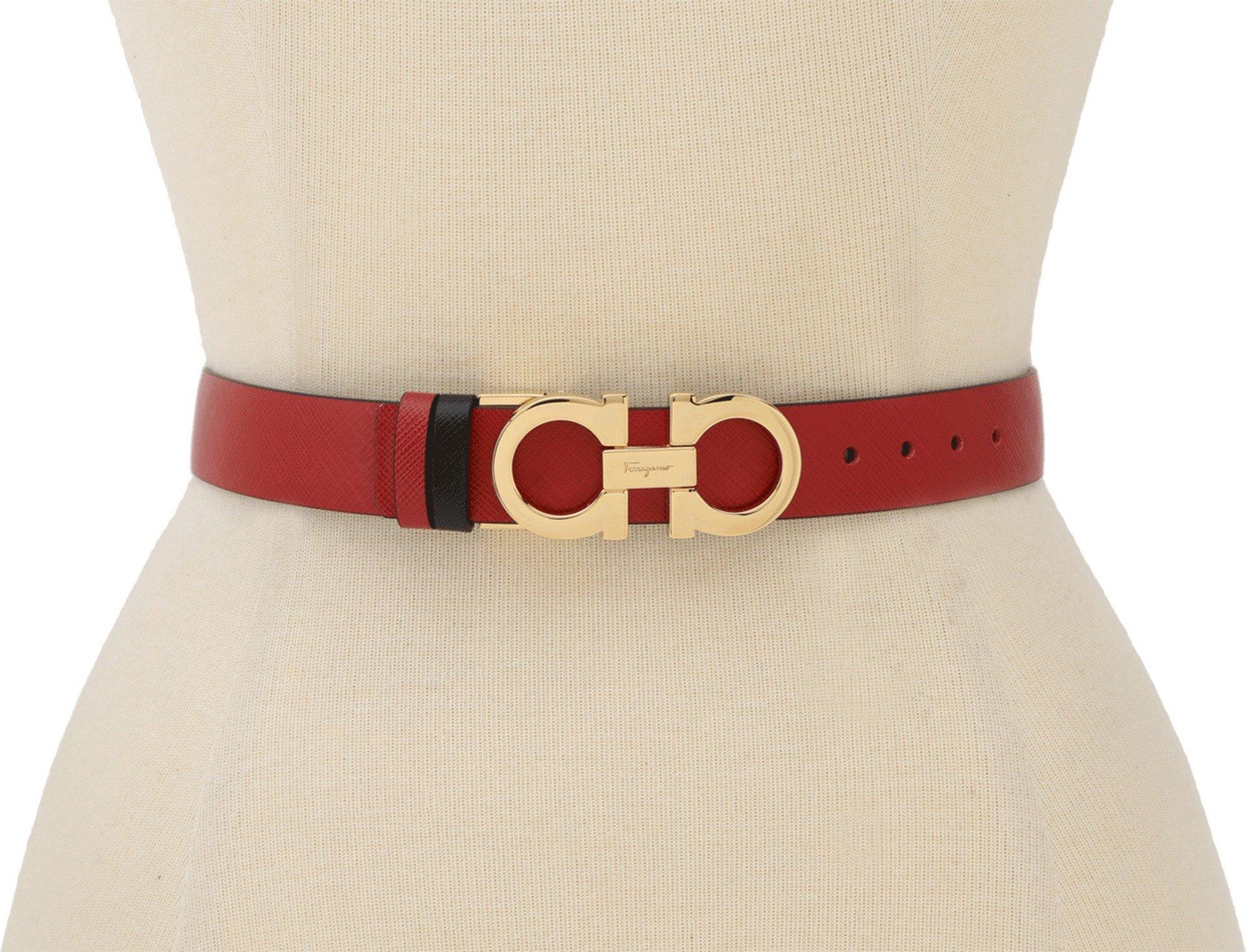 Salvatore Ferragamo Women's A565 Belt Rosso Tissu Belt 70 (28'' Waist) by Salvatore Ferragamo (Image #1)