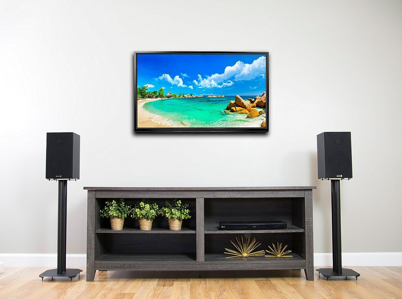 Amazon.com: VIVO Premium Universal Floor Speaker Stands for Surround Sound  & Book Shelf Speakers (STAND-SP03B): Kitchen & Dining