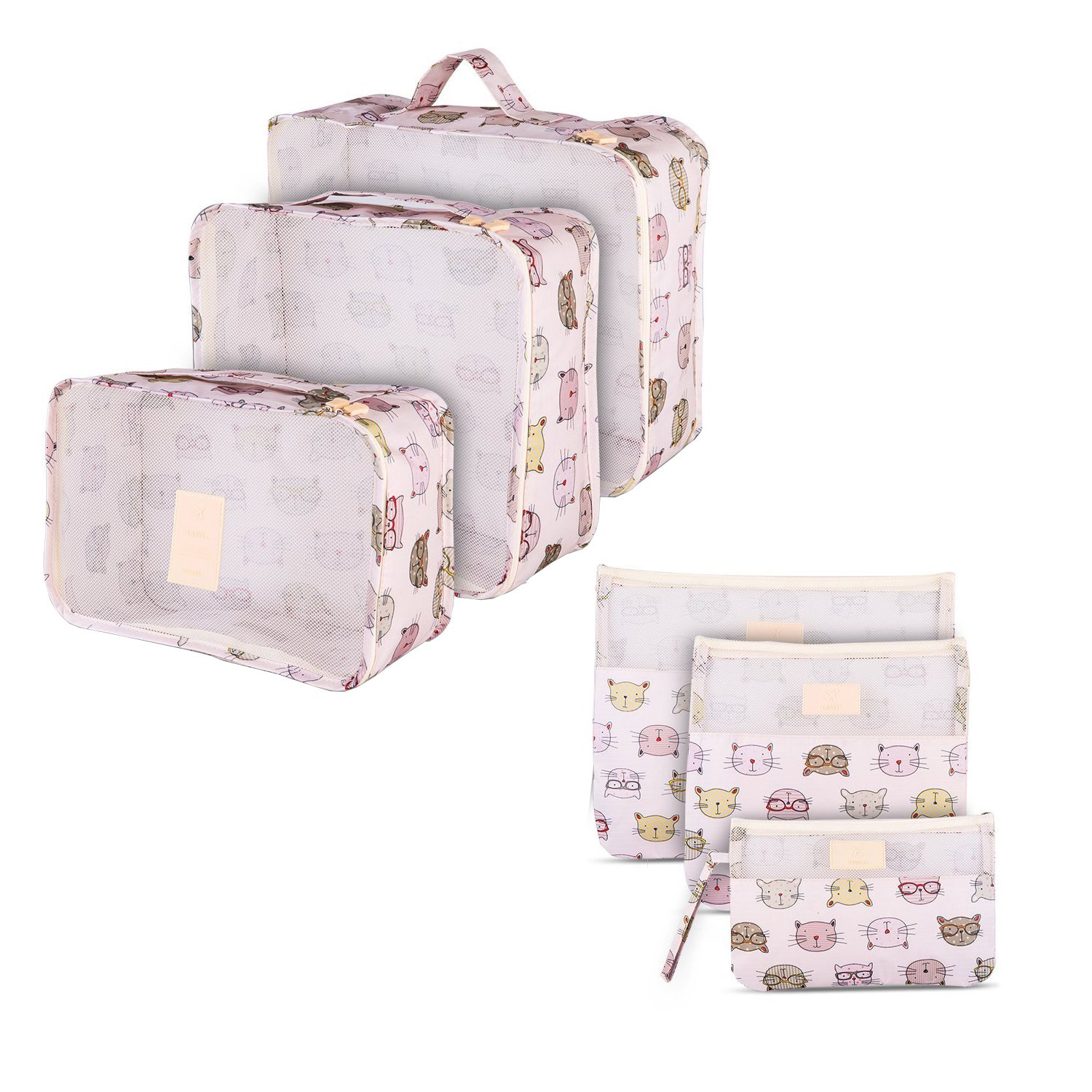 181991bf8d99 hot sale 6 Set Waterproof Mesh Travel Accessories Carryon Dirty ...