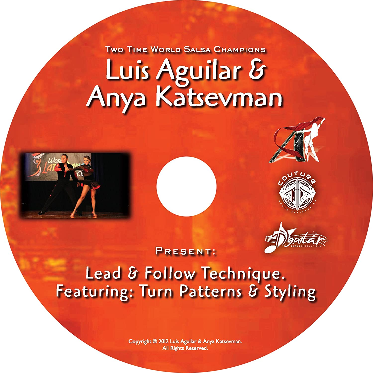 Amazon.com: Two Time World Salsa Champions, Luis Aguilar & Anya Katsevman, Lead & Follow. Featuring: Turn-patterns & Styling.: Luis Aguilar, Anya Katsevman: ...