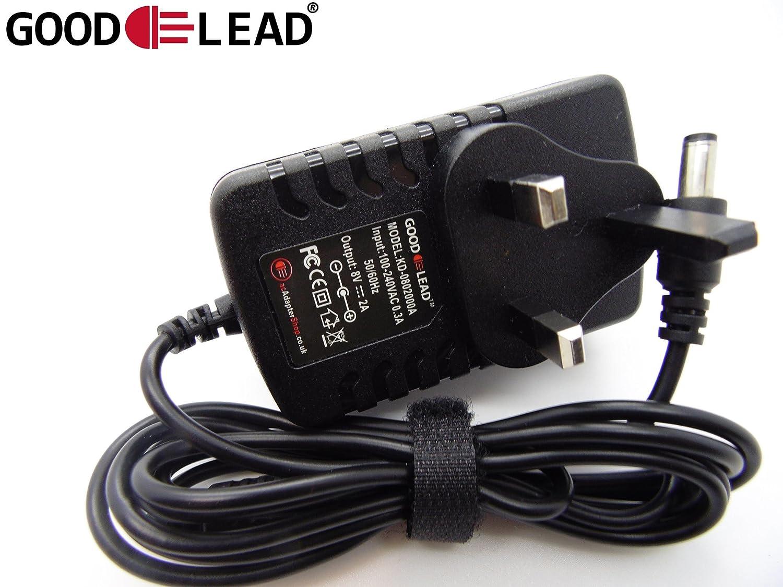 GOOD LEAD 8V 500mA UK Mains AC DC Adaptor Power Supply Exercise Bike LK D080050