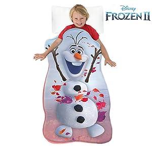 Blankie Tails Disney Frozen 2 Olaf Wearable Blanket Super Soft-Double Sided Minky Fleece for Kids- Machine Washable Climb Inside Become Your Favorite Frozen Snowman