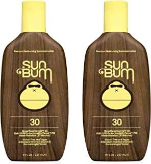 product image for Sun Bum Sun Bum Original Spf 30 Sunscreen Lotion Vegan and Reef Friendly (octinoxate & Oxybenzone Free) Broad Spectrum Moisturizing Uva/uvb Sunscreen With Vitamin E 8 Ounce 2 Pack