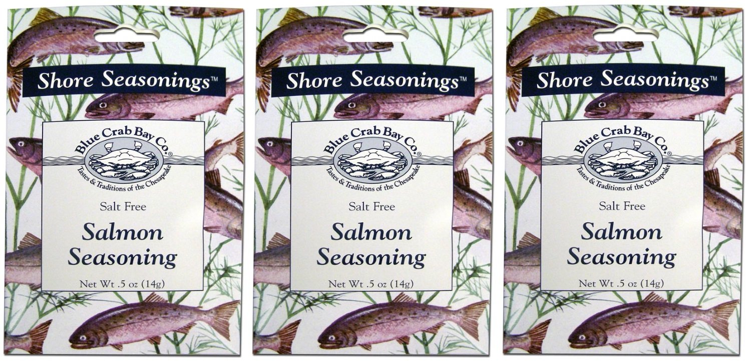 Blue Crab Bay Salmon Seasoning and Dill Dip Blend (Pack of 3)