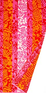 St. Tropez Sands Hawaiian Floral Pink Beach Towel