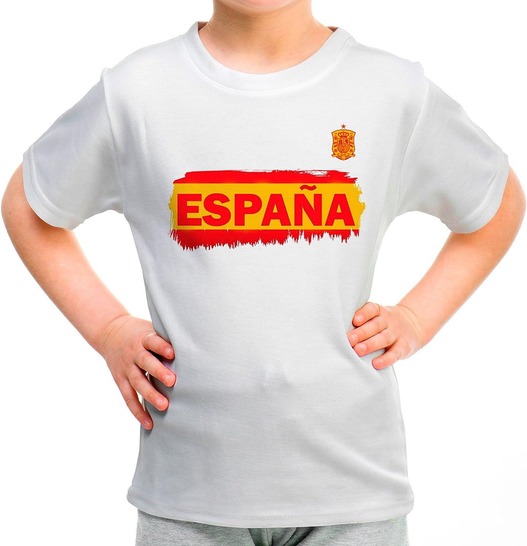 Lolapix Camiseta España Blanca Personalizada con Nombre y número. Camiseta de algodón. Regalo para niña. Varios diseños y Tallas. Fútbol: Amazon.es: Hogar