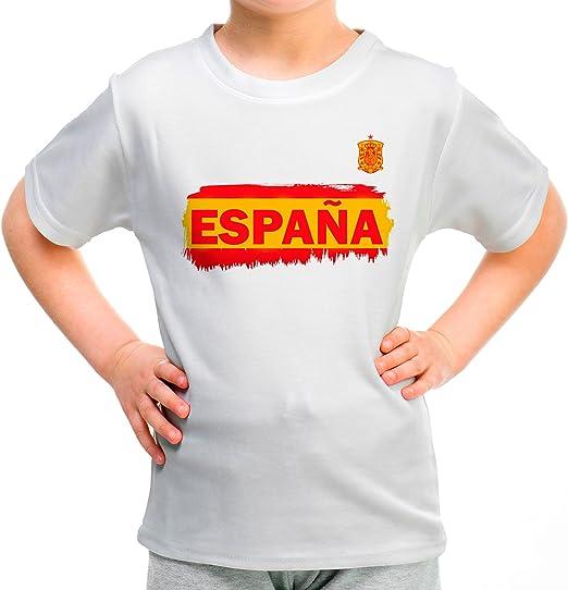 Lolapix Camiseta España Blanca Personalizada con Nombre y número ...