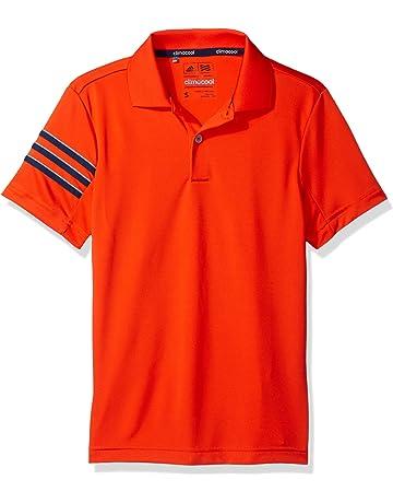 a87d96784 adidas Golf Boys Climacool 3 Stripes Polo Shirt