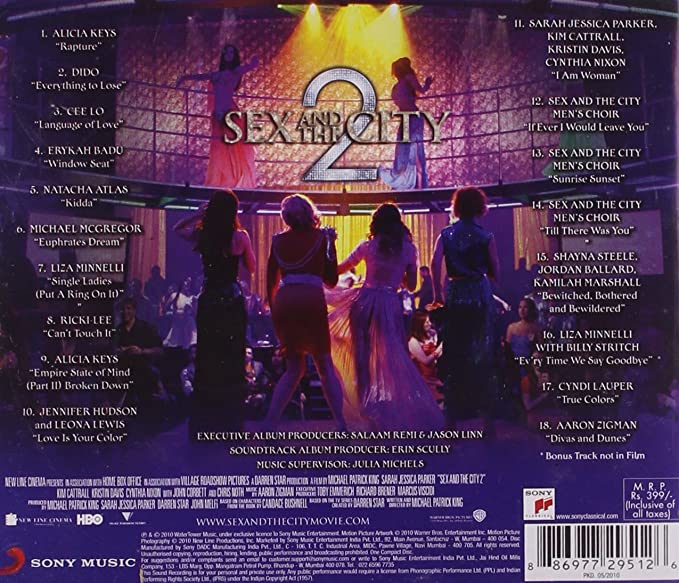 Sex and the city soundtrack album cover
