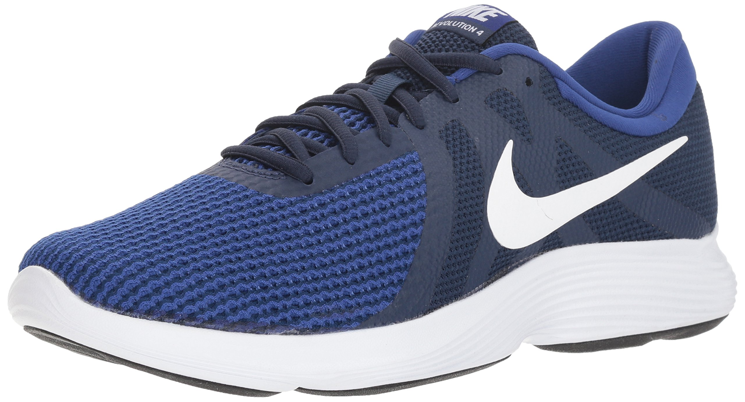 Nike Men's Revolution 4 Running Shoe, Midnight Navy/White/Deep Royal, 13 Regular US by Nike