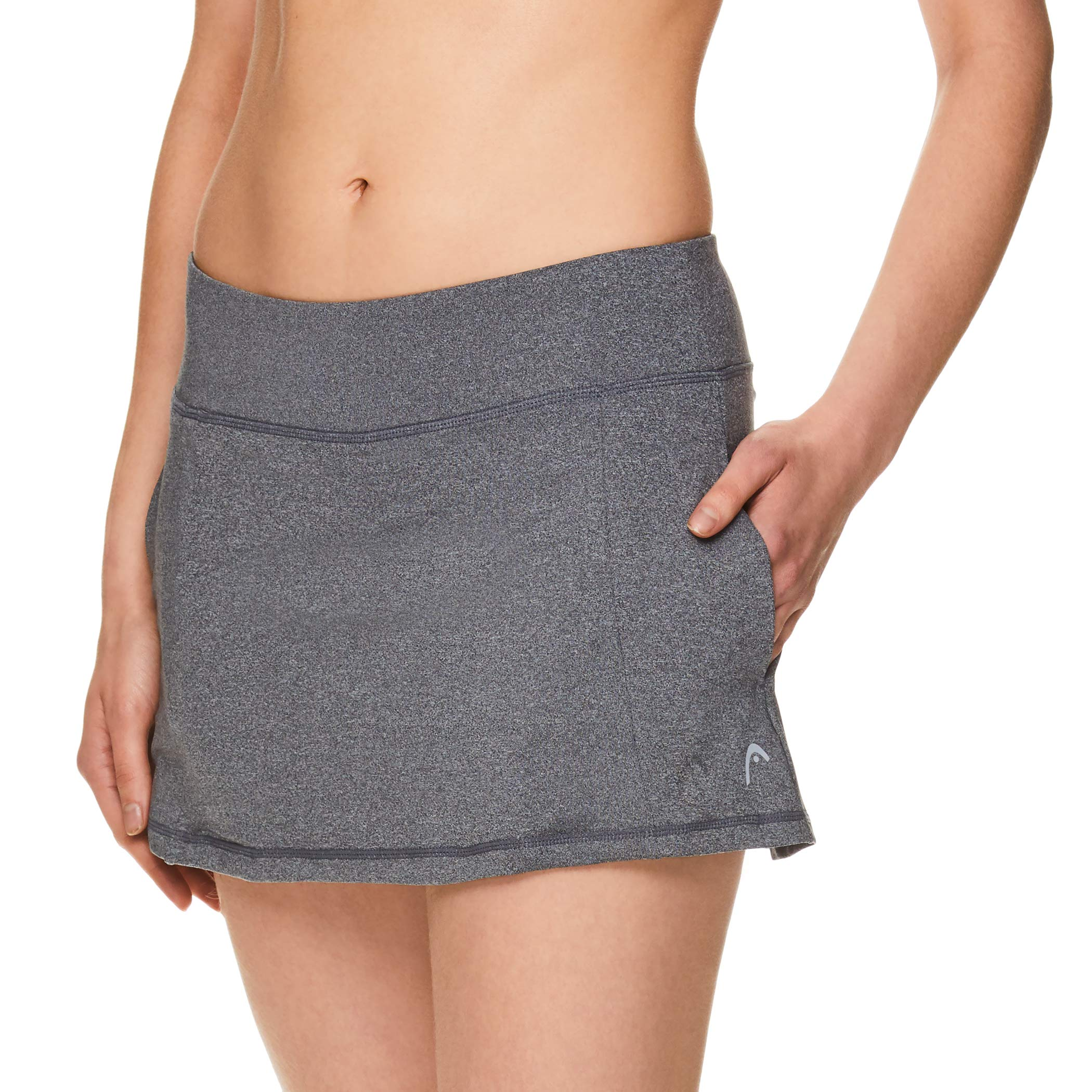 HEAD Women's Athletic Tennis Skort - Performance Training & Running Skirt - Lead Skort Charcoal, X-Small