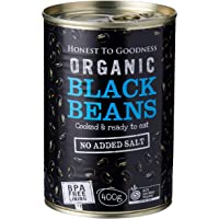 Honest to Goodness Organic Black Beans  - BPA Free (Cooked), 400g