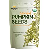 Harvested For You Sprouted Pumpkin Seeds with Sea Salt 22oz Bag, Non GMO, Keto Snacks, Paleo, Gluten Free, Vegan, Organic, Pl
